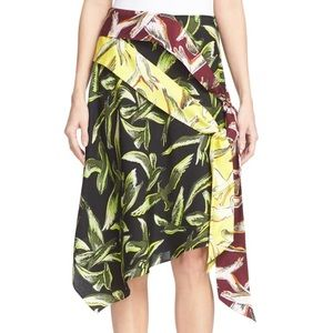 Emilio Pucci Asymmetrical Gabbiani Silk Skirt